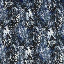 Úplet N3679, modrý vzor, š.150
