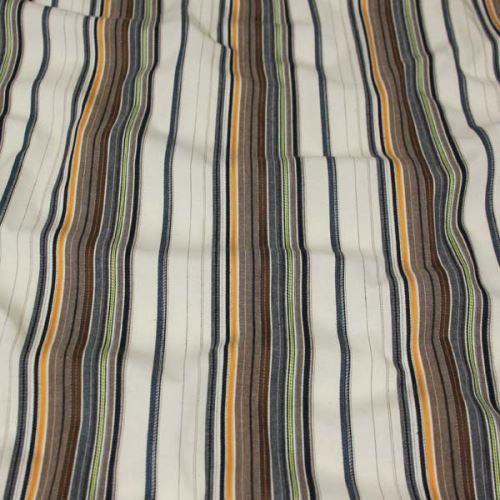 Košilovina krémová 09167, barevný pruh š.150
