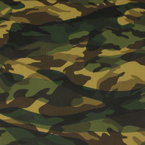 Koženka army, khaki kamufláž, š.145