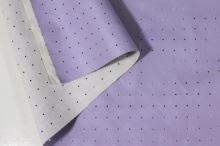 Koženka světle fialová, dírkový vzor, š.150