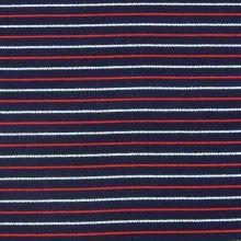 Úplet tmavě modrý, tenký červený a bílý pruh, š.145