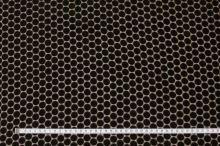 Šifon hnědý, sametový puntík, š.135