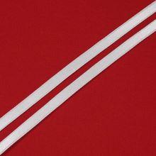 Stuha bílá saténová oboulíc, šíře 7mm