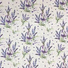 Dekorační látka P0290, levandule, š.140
