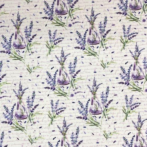 Dekoračná látka P0290, levanduľa, š.140