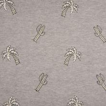 Úplet šedá melanž, palmy a kaktusy, š.145