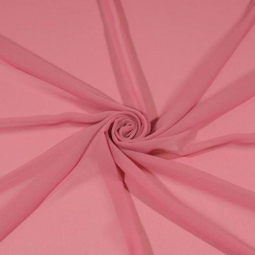 Šifon růžový BW439, š.145