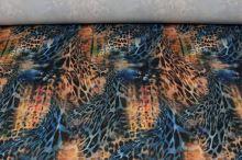 Úplet oranžovo-modrý, zvierací vzor, š.155