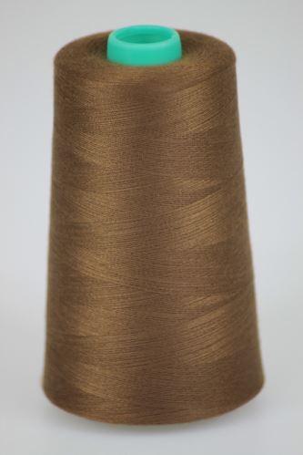 Niť KORALLI polyesterová 120, 5000, odtieň 8460, hnedá