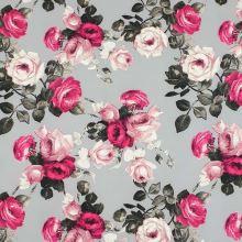 Kostýmovka šedá, růže, š.145