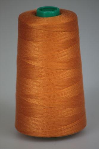 Niť KORALLI polyesterová 120, 5000Y, odtieň 2220, oranžová