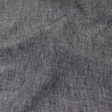 Ľan šedo-čierny melange 18378, 180g/m, š.130
