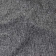 Len šedo-černý melange 18378, 180g/m, š.130