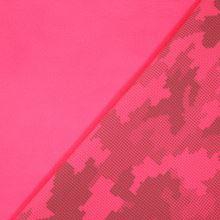 Softshell růžový neon, reflexní vzor, š.145