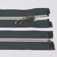 Zip spirálový 6mm délka 65cm, barva 312 (dělitelný) se stříbrnými zoubky