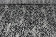 Krajka šedočernobílá, š.150