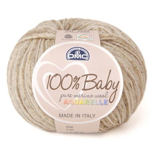 Příze 100% BABY Aquarelle 50g, béžovohnědý melír - odstín 1330