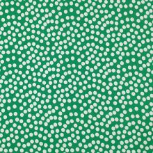 Úplet zelený, bílý puntík, š.150