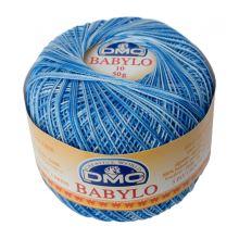Příze Babylo 50g, síla 10, modrobílý melír - odstín 93