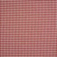 Kanafas krémovo-červený, drobná kocka, š.145