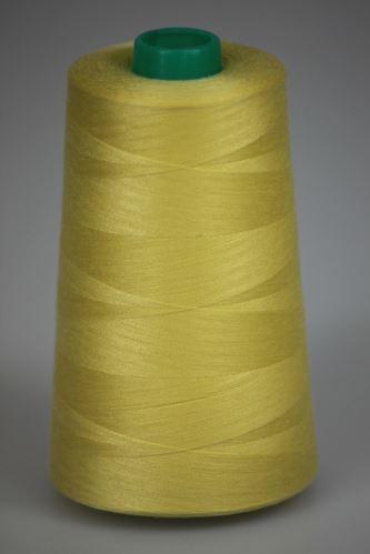 Niť KORALLI polyesterová 120, 5000, odtieň 1260, žltá
