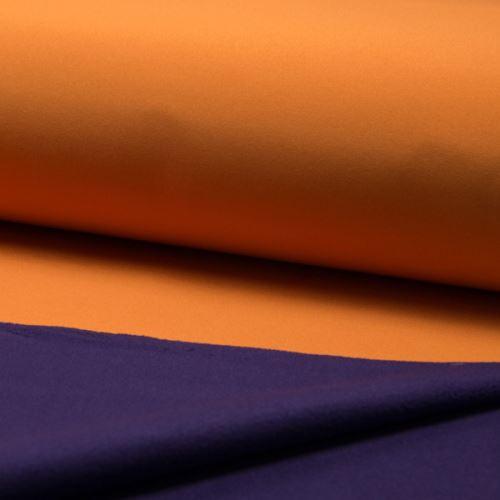 Softshell oranžový, z rubu fialový , š.145