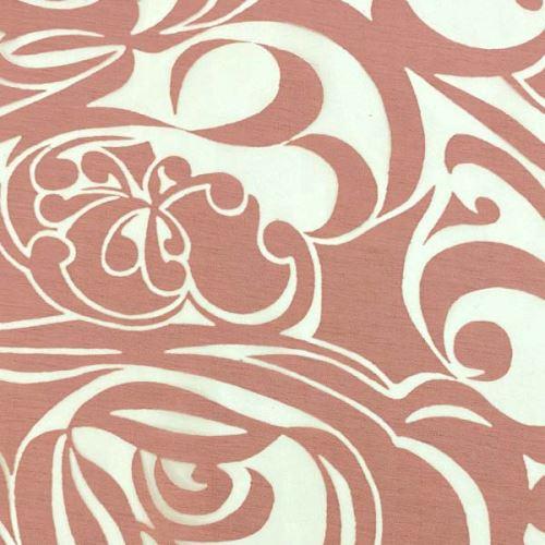 Ozganza 07983 bílá, růžový vzor š.140