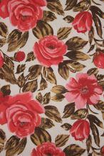 Len růžovohnědý květ š.150