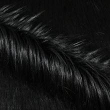 Umelá kožušina čierna s dlhým vlasom, š.160