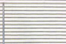 Košeľovina biela, fialovo-zelený pruh š.155