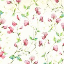 Dekoračná látka SONJA krémová, ružové kvety, š.160