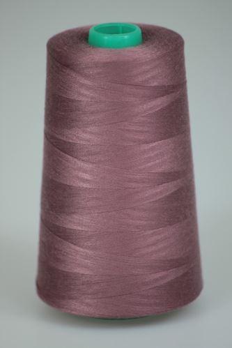 Niť KORALLI polyesterová 120, 5000Y, odtieň 3280, ružová-fialová