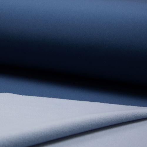 Softshell denimová modř, z rubu světle modrý , š.145