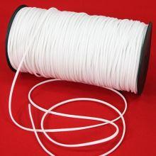Guma prádlová biela, šírka 3mm