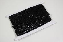 Stuha čierna s rokajlovou výšivkou š.0,6 cm