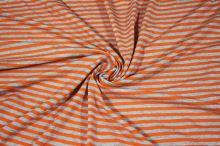 Úplet svetlo šedý, oranžový pruh, š.165