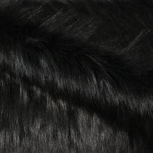 Umelá kožušina čierna, š.160