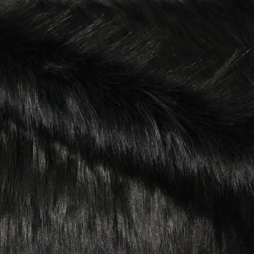Umělá kožešina černá, š.160