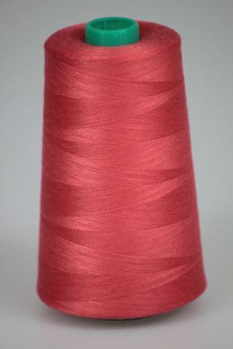 Niť KORALLI polyesterová 120, 5000Y, odtieň 3340, ružová