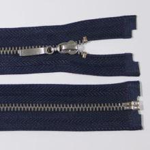 Zips kovový 4mm chróm dĺžka 55cm, farba 330 (deliteľný)