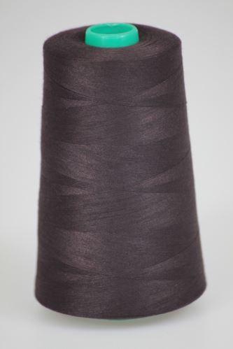 Nit KORALLI polyesterová 120, 5000Y, odstín 8390, fialová-hnědá