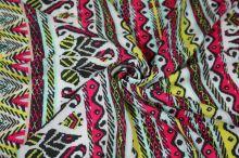 Šatovka 14154, barevný vzor, š.135