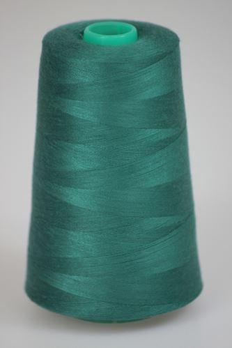 Niť KORALLI polyesterová 120, 5000Y, odtieň 6460, zelená