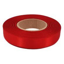 Stuha atlasová červená, šírka 15mm
