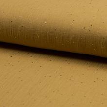 Mušelín horčicový, zlatý hviezdny prach, š.140