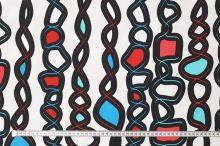 Úplet bílý, pramínky s barevnými kameny, š.175