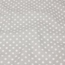 Bavlna šedá, bodky, š.160