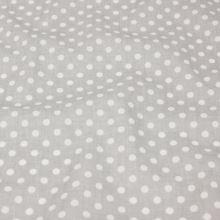 Bavlna šedá, puntíky, š.160