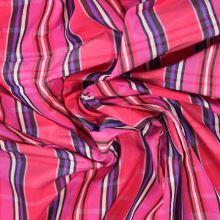 Taft ružový káro š.150