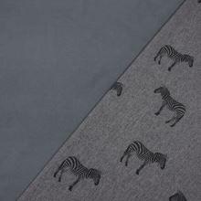 Softshell šedý melange, zebry, š.140